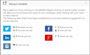 sociabble sharing limits