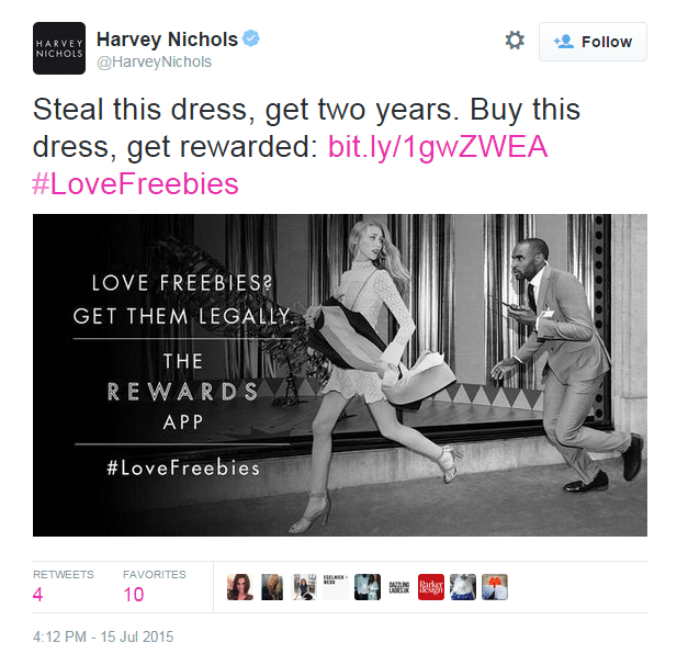 Harvey Nichols and Retail Innovation on Social Media