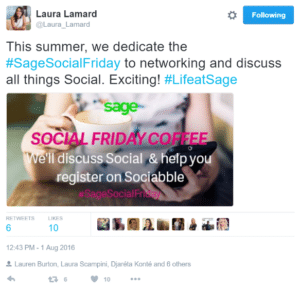 Laura Lamard of Sage on How to Launch a Company-Wide Social Selling Program