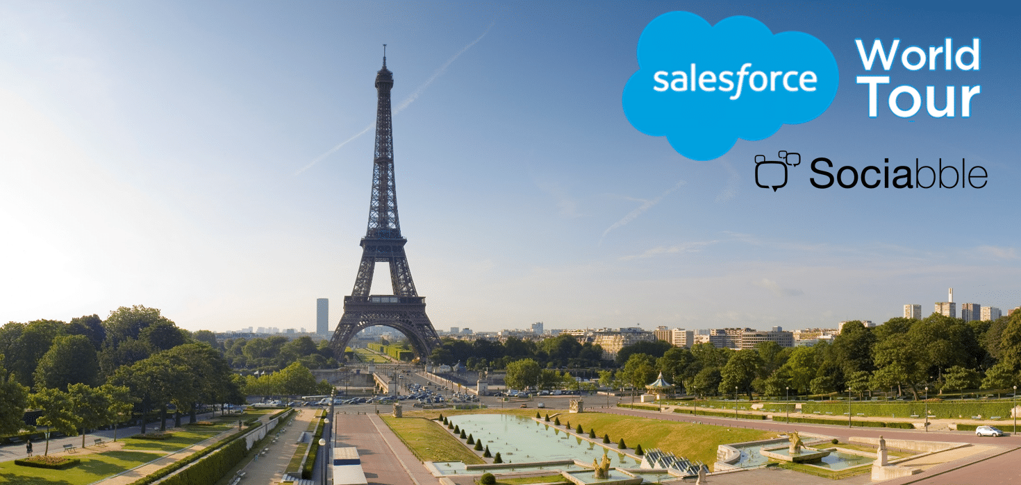 Sociabble at the Salesforce World Tour, Paris