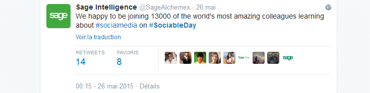 #SociableDay: Sage accelerates on Social Media with Brainsonic