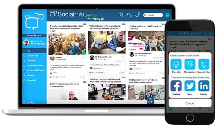 Sociabble and scoop.it platform