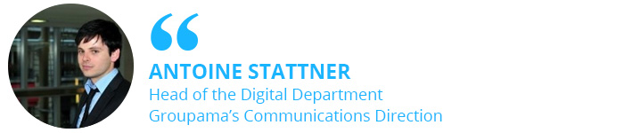 Antoine Stattner, Head of the Digital Department at Groupama's Communications Direction